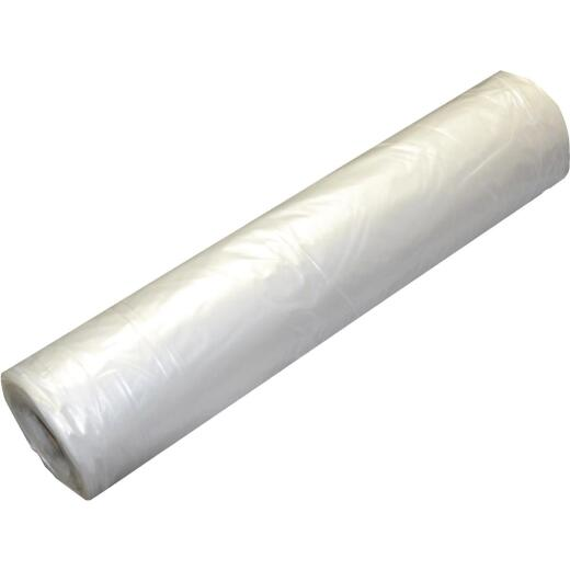 Grip Rite 40 Ft. X 100 Ft. String Reinforced Poly Film Clear 4 Mil. Plastic Sheeting