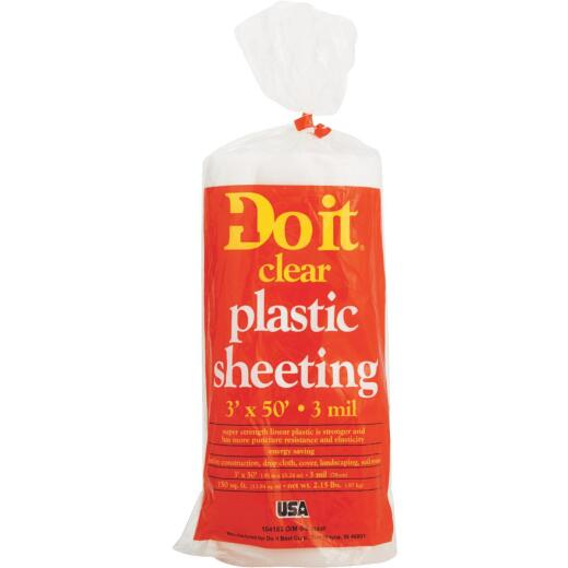 Do it 3 Ft. X 50 Ft. Clear 3 Mil. Poly Film Sheeting