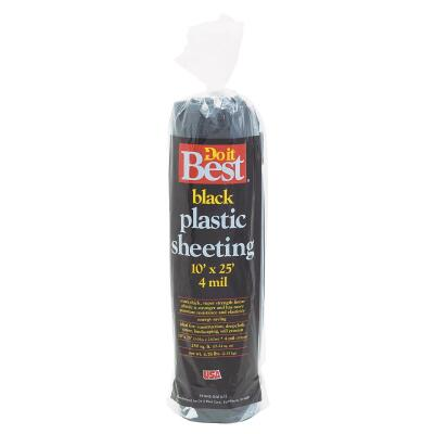 Do it Best 10 Ft. X 25 Ft. Black 4 Mil. Poly Film Sheeting