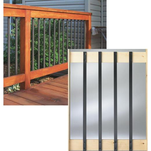 Deckorators 32 In. Black Aluminum Traditional Baluster (10-Pack)