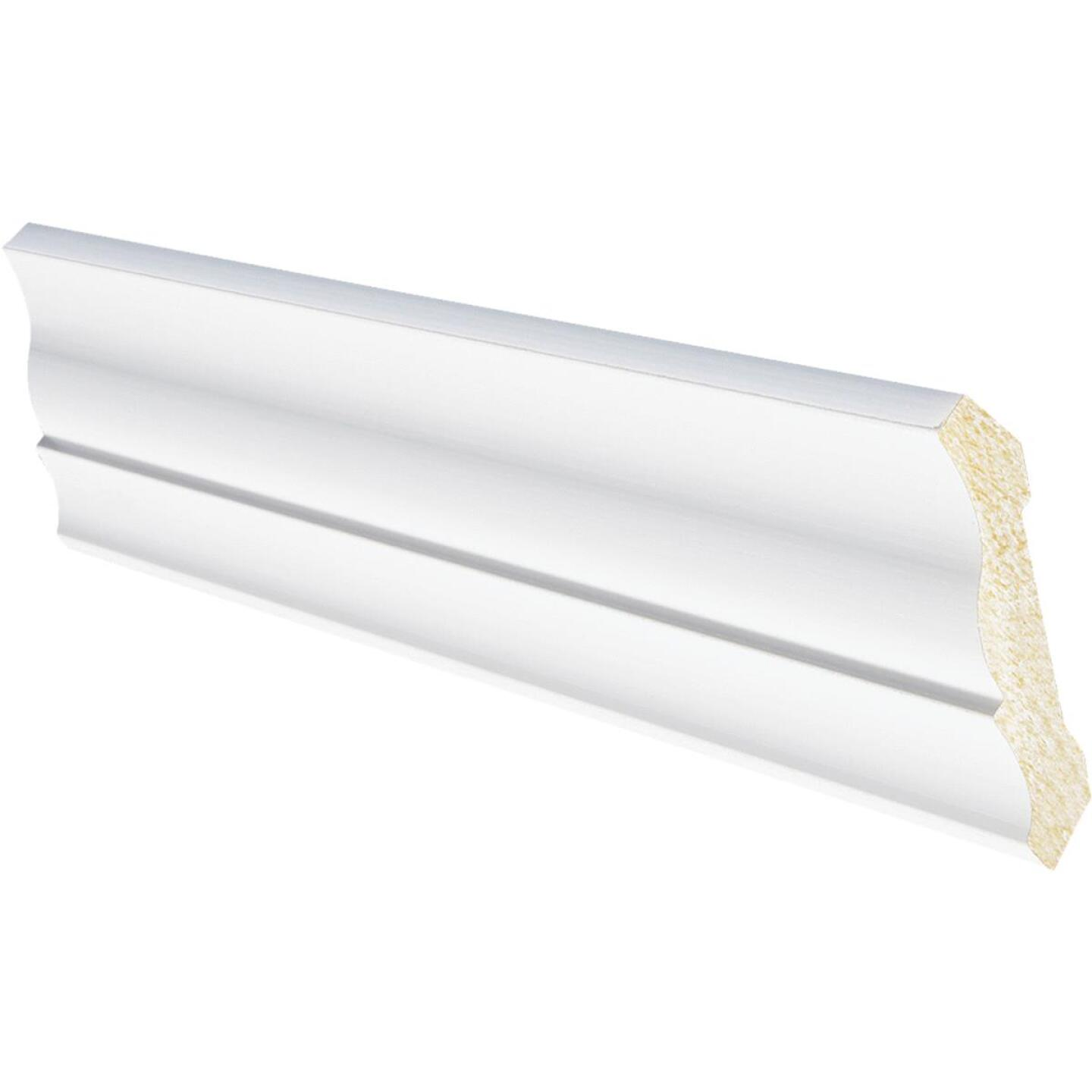 Inteplast Building Products 1/2 In. W. x 3-3/16 In. H. x 8 Ft. L. Crystal White Polystyrene Crown Molding Image 1