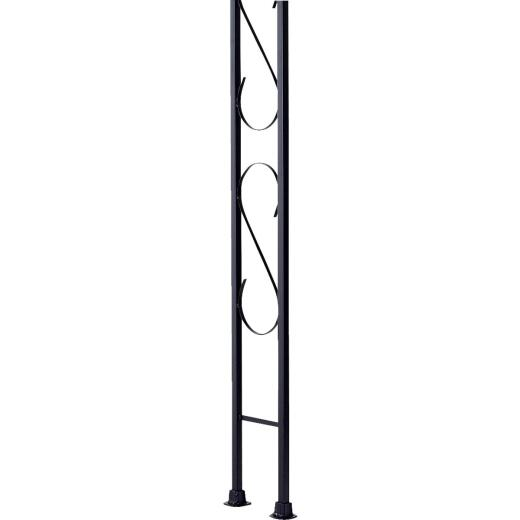 Gilpin Newport 9-1/2 In. x 8 Ft. Wrought Iron Railing Corner Iron Ornamental Column