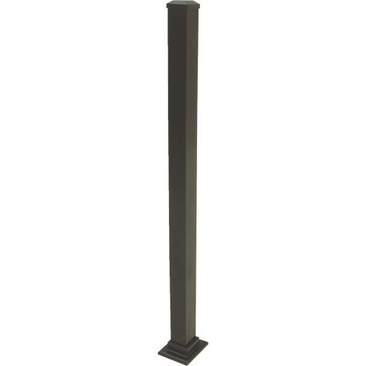 Gilpin Summit 2-1/2 In. x 2-1/2 In. x 37 In. Black Aluminum Railing Newel Post