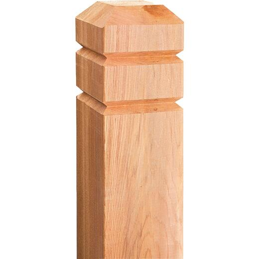 Real Wood Products 4 In. x 4 In. x 54 In. Chamfered Deck Post