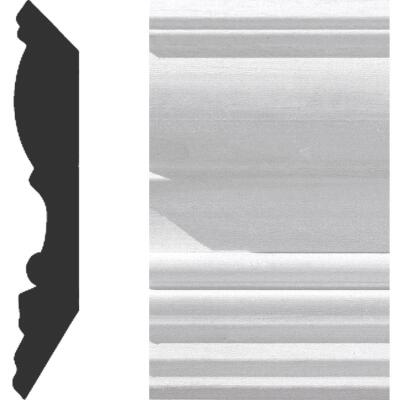 House of Fara 3/4 In. W. x 4-1/2 In. H. x 8 Ft. L. White Primed MDF Detail Crown Molding