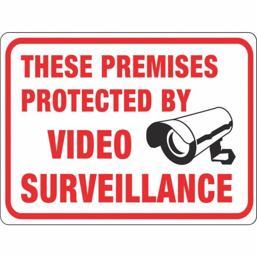 Hy-Ko Plastic Sign, These Premises Protected By Video Surveillance