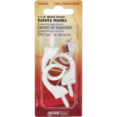 Hillman Anchor Wire 1-1/4 In. White Safety Hook
