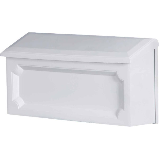 Gibraltar Windsor White Horizontal Wall Mount Mailbox