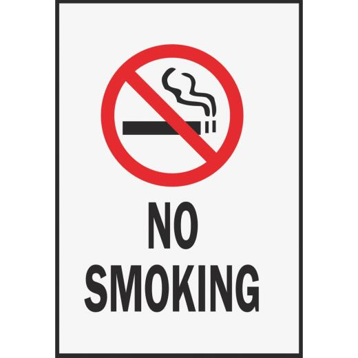 Hy-Ko Vinyl Sign, No Smoking