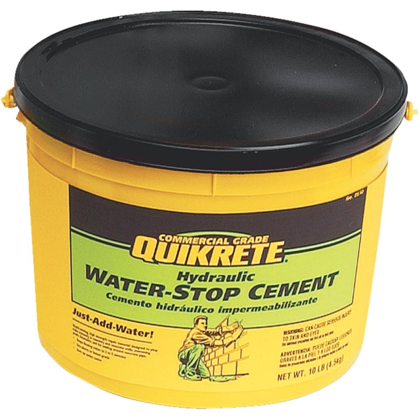 Quikrete 10 Lb Pail Hydraulic Water Stop Cement Image 1