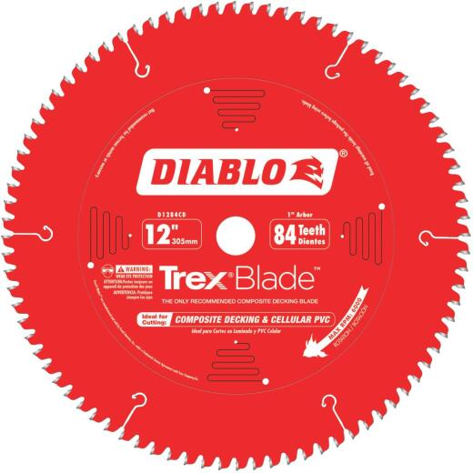 Diablo Trex Blade 12 In. 84-Tooth Composite Decking & PVC Circular Saw Blade
