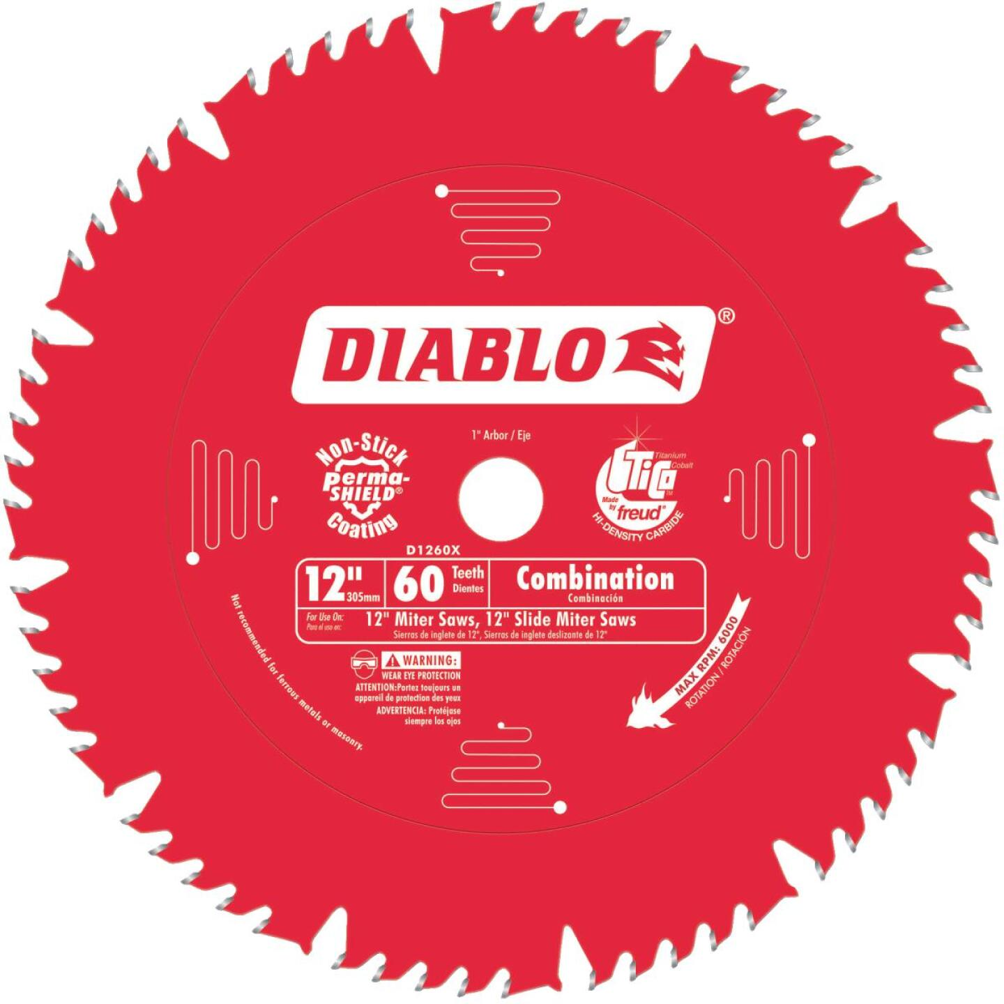 Diablo 12 In. 60-Tooth Combination Circular Saw Blade Image 1