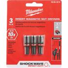 Milwaukee 1/4 In. x 1-1/2 In. Insert Impact Nutdriver, (3-Pack) Image 1