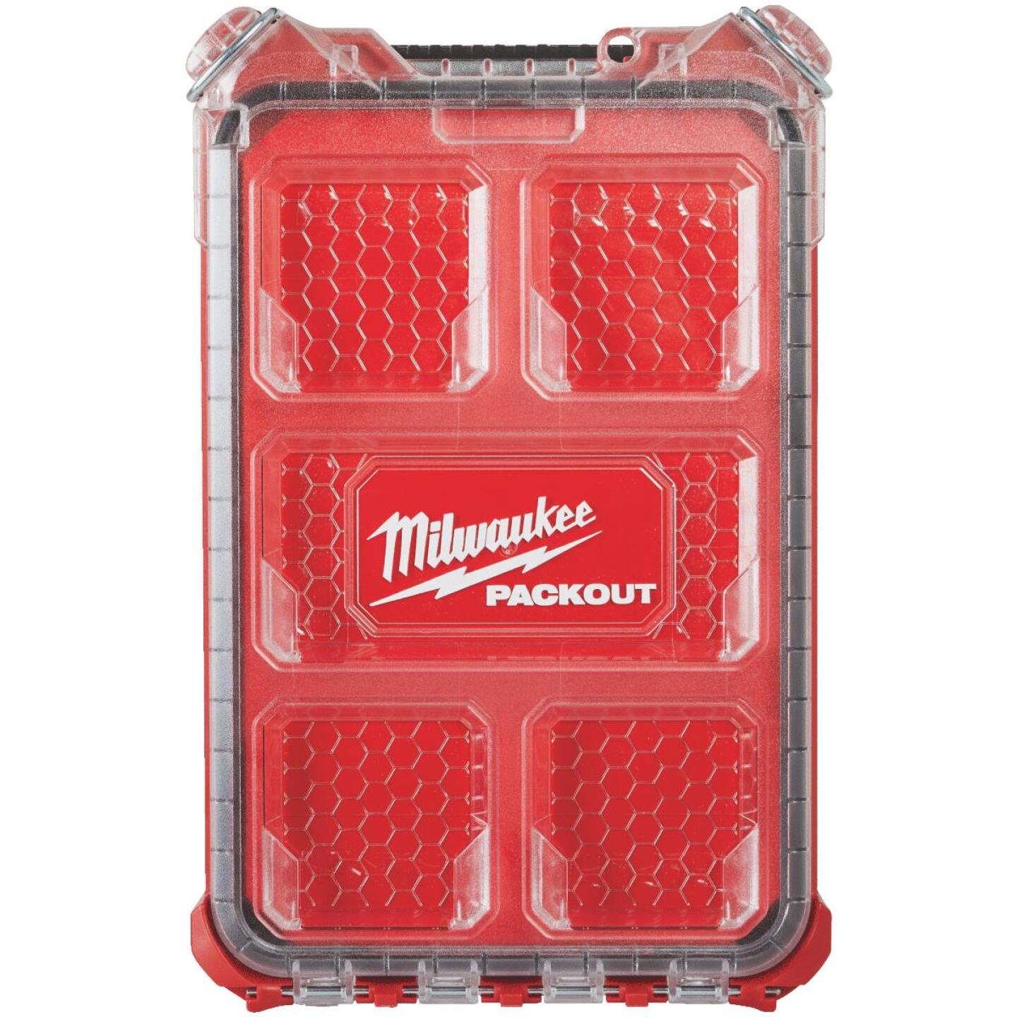 Milwaukee PACKOUT 9.75 In. W x 4.50 In. H x 15.25 In. L Compact Small Parts Organizer with 5 Bins Image 2