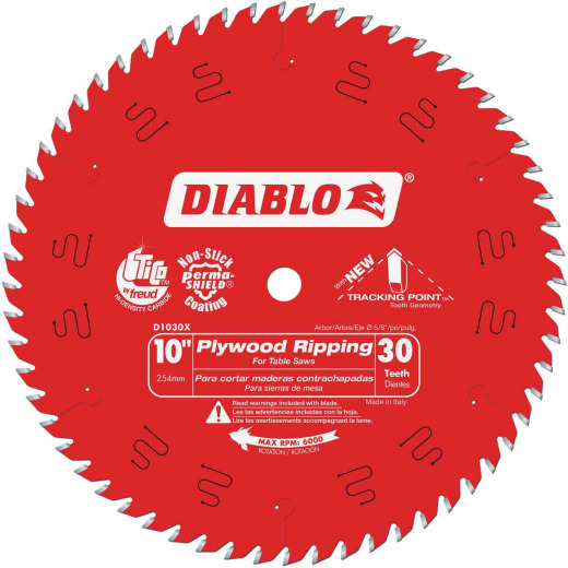 Diablo 10 In. 30-Tooth Plywood Ripping Circular Saw Blade