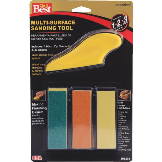 Do it Best Micro Zip Sander Hand Sanding Kit