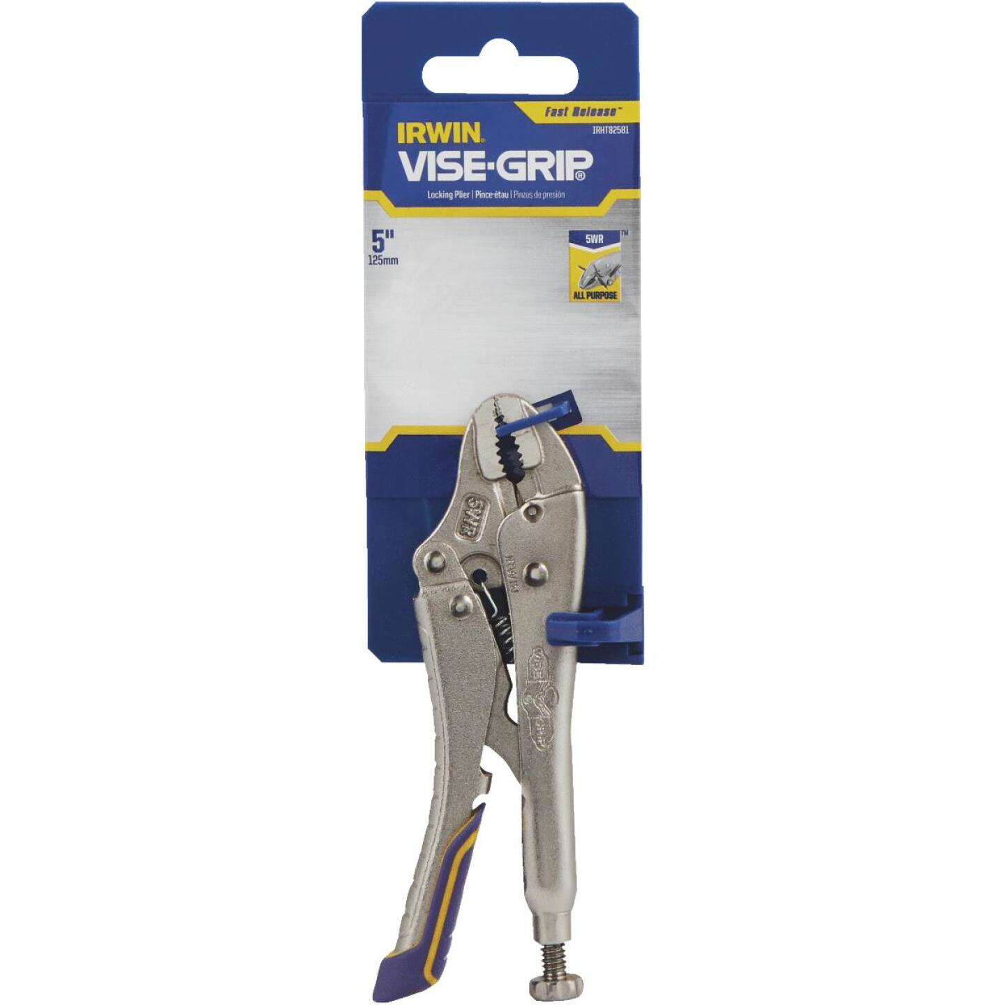 Irwin Vise-Grip Fast Release 5 In. Curved Jaw Locking Pliers Image 2