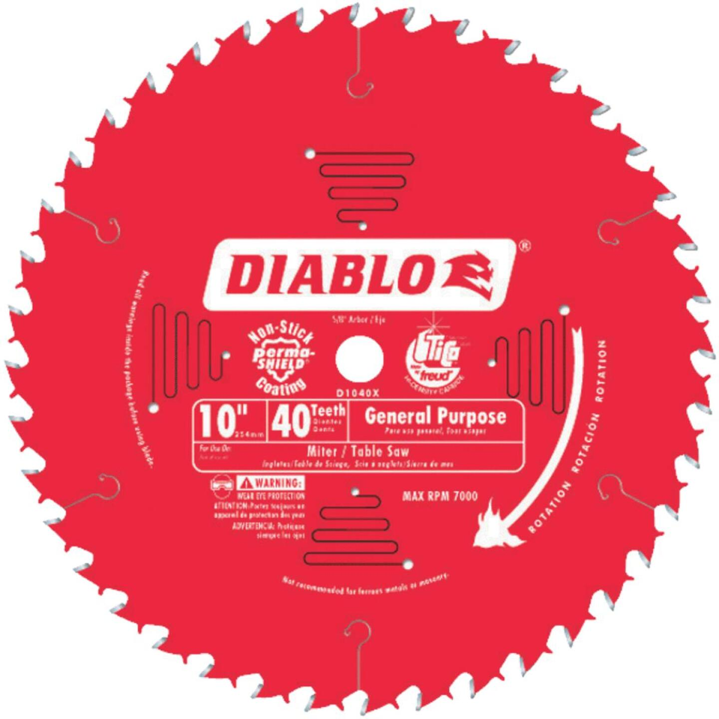Diablo 10 In. 40-Tooth General Purpose Circular Saw Blade Image 1