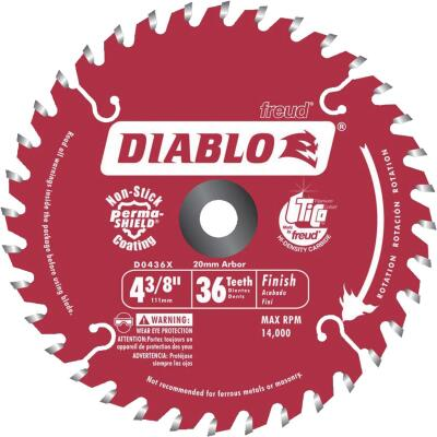Diablo 4-3/8 In. 36-Tooth Finish Circular Saw Blade