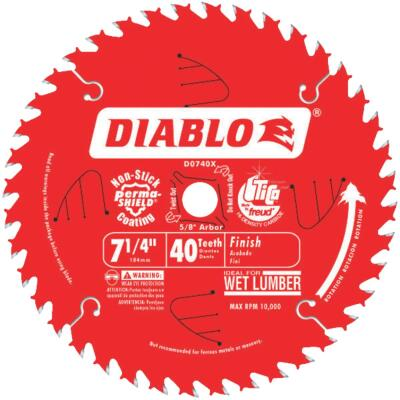 Diablo 7-1/4 In. 40-Tooth Finish Circular Saw Blade