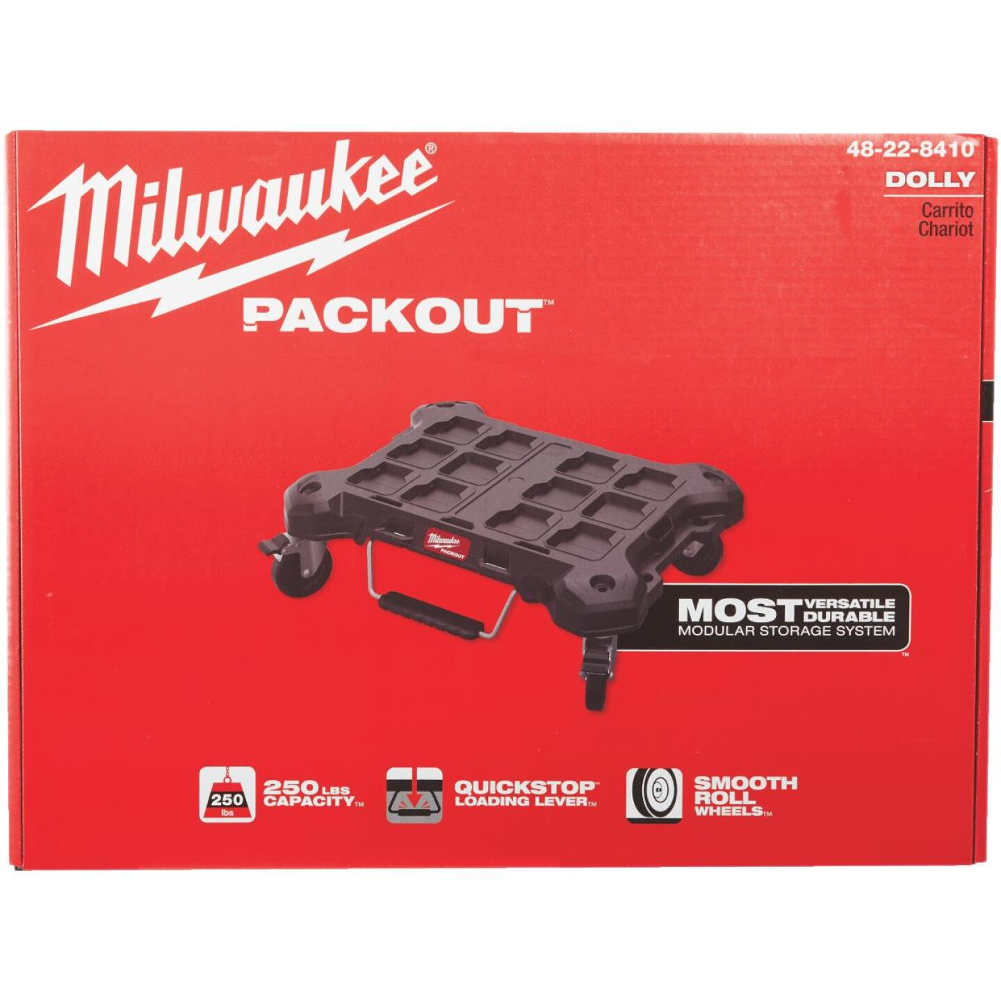 Milwaukee PACKOUT 18.8 In. W x 24.4 In. L Platform Cart, 250 Lb. Capacity Image 6