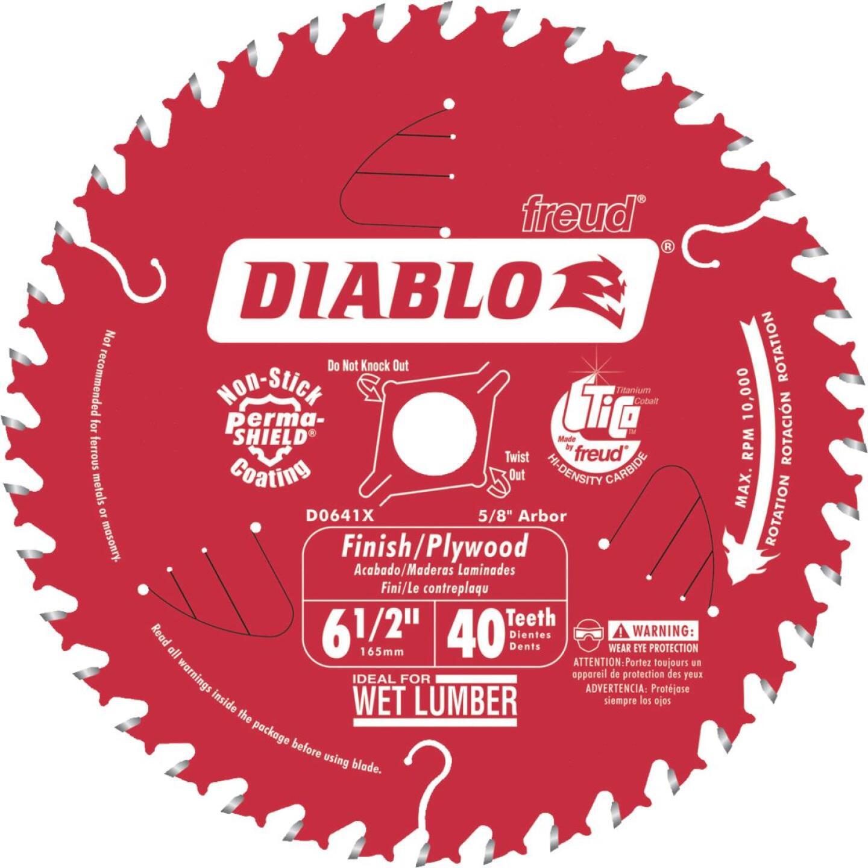 Diablo 6-1/2 In. 40-Tooth Finish/Plywood Circular Saw Blade Image 1
