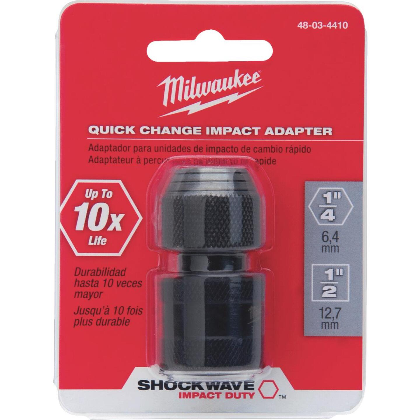 Milwaukee 1/2 In. Square 1-7/8 In. L. Socket Adapter Image 2
