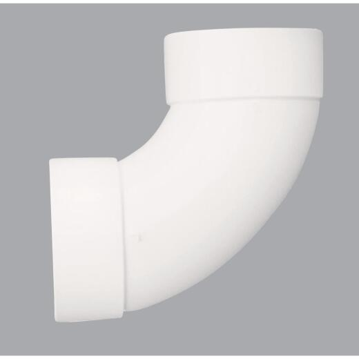 IPEX Canplas SDR 35 90 Degree 3 In. PVC Sewer and Drain Sanitary Elbow (1/4 Bend)