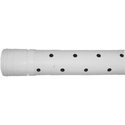 Advanced Basement 4 In. X 10 Ft. HDPE Perforated Sewage & Drainage Pipe