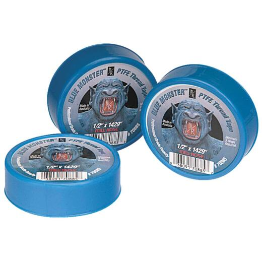 BLUE MONSTER 1/2 In. x 1429 In. Blue Thread Seal Tape