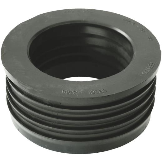 Fernco DWV 4 In. x 3 In. Sewer and Drain PVC Iron Pipe Hub Adapter