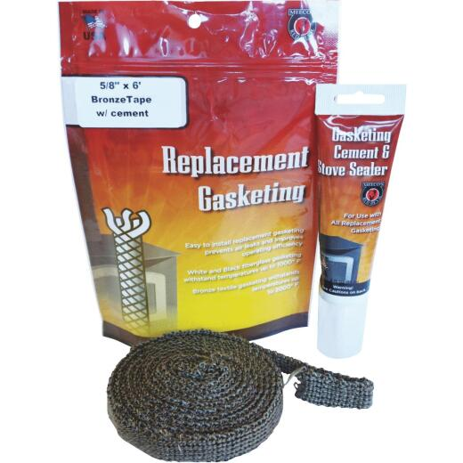 Meeco's Red Devil Gasketing Cement/Stove Sealer and 5/8 In. x 6 Ft. Replacement Tape Gasket Kit