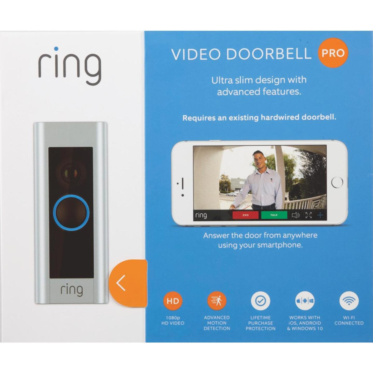 Ring Assorted Color Hardwired Video Doorbell Pro Image 2