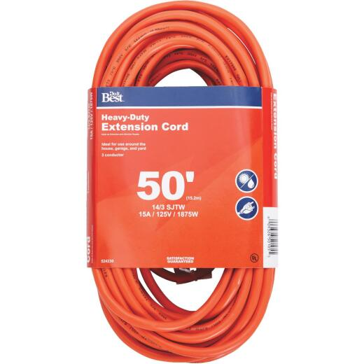 Do it Best 50 Ft. 14/3 Heavy-Duty Outdoor Extension Cord
