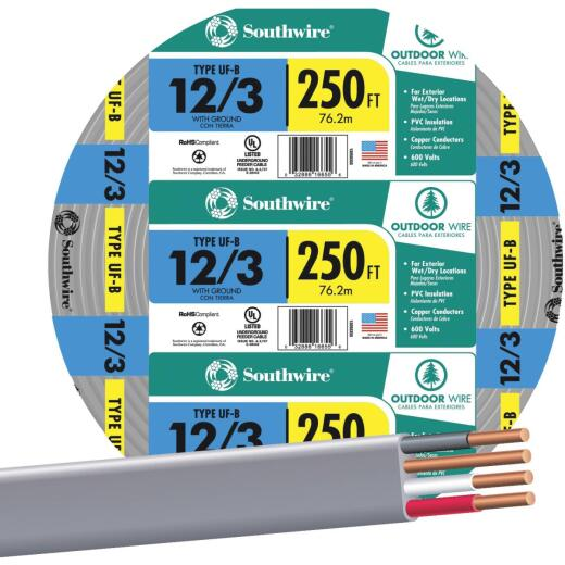 Southwire 250 Ft. 12 AWG 3-Conductor UFW/G Wire
