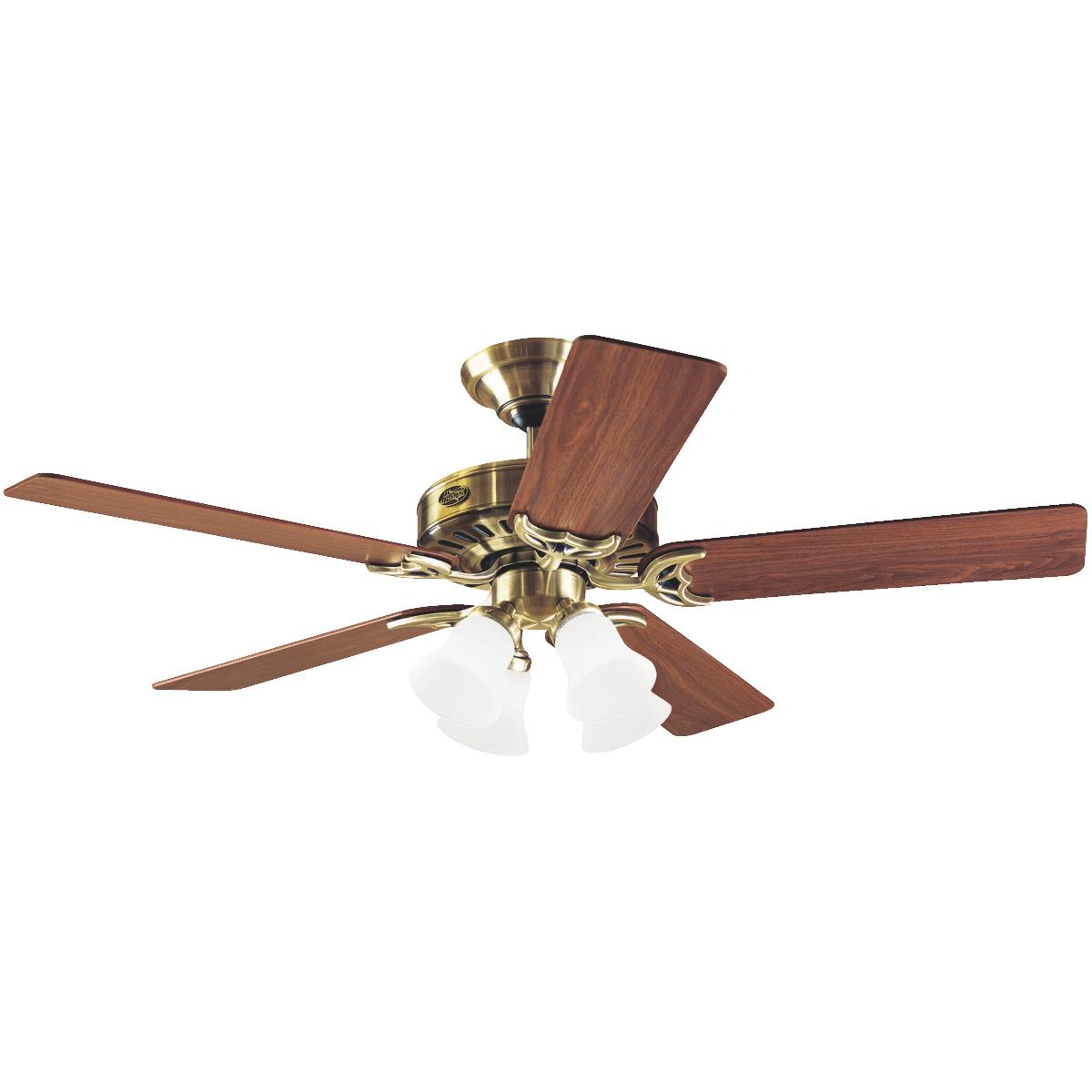 "5 Reversible Blades and Light Kit Included Hunter 53066 52/"" Indoor Ceiling Fan"