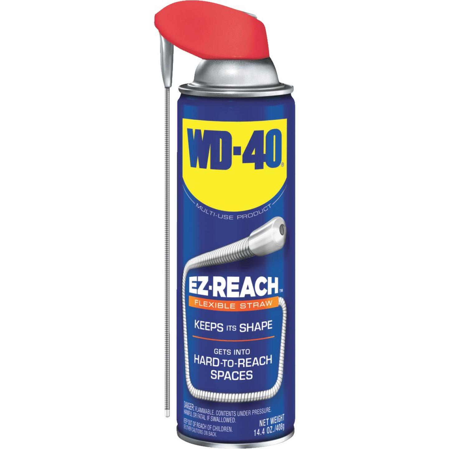 WD-40 14.4 Oz. Aerosol Multi-Purpose Lubricant with EZ Reach 8 In. Metal Straw Image 1