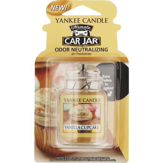 Yankee Candle Car Jar Ultimate Car Air Freshener, Vanilla Cupcake