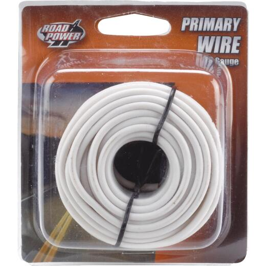 ROAD POWER 24 Ft. 16 Ga. PVC-Coated Primary Wire, White