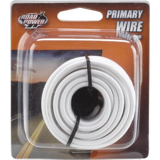 ROAD POWER 17 Ft. 14 Ga. PVC-Coated Primary Wire, White