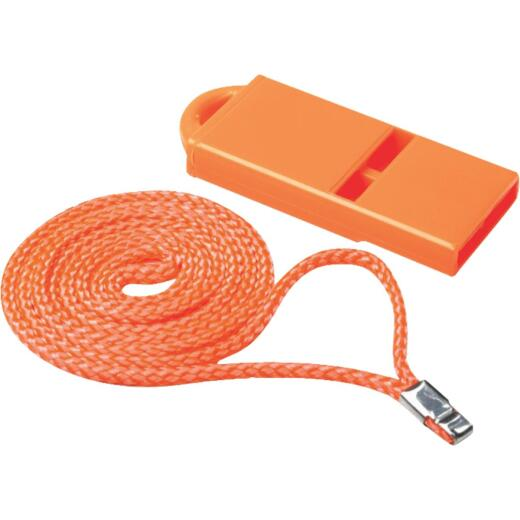 Seachoice 2 In. W. x 2-1/4 In. L. x 1/4 In. D. Orange Plastic Whistle
