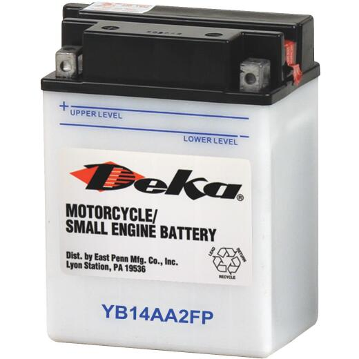 Deka 12-Volt 190 CCA Powersport Battery, Left Front Positive Terminal