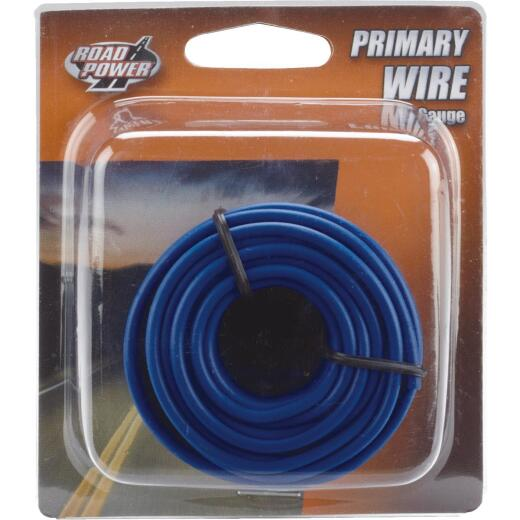 ROAD POWER 24 Ft. 16 Ga. PVC-Coated Primary Wire, Blue