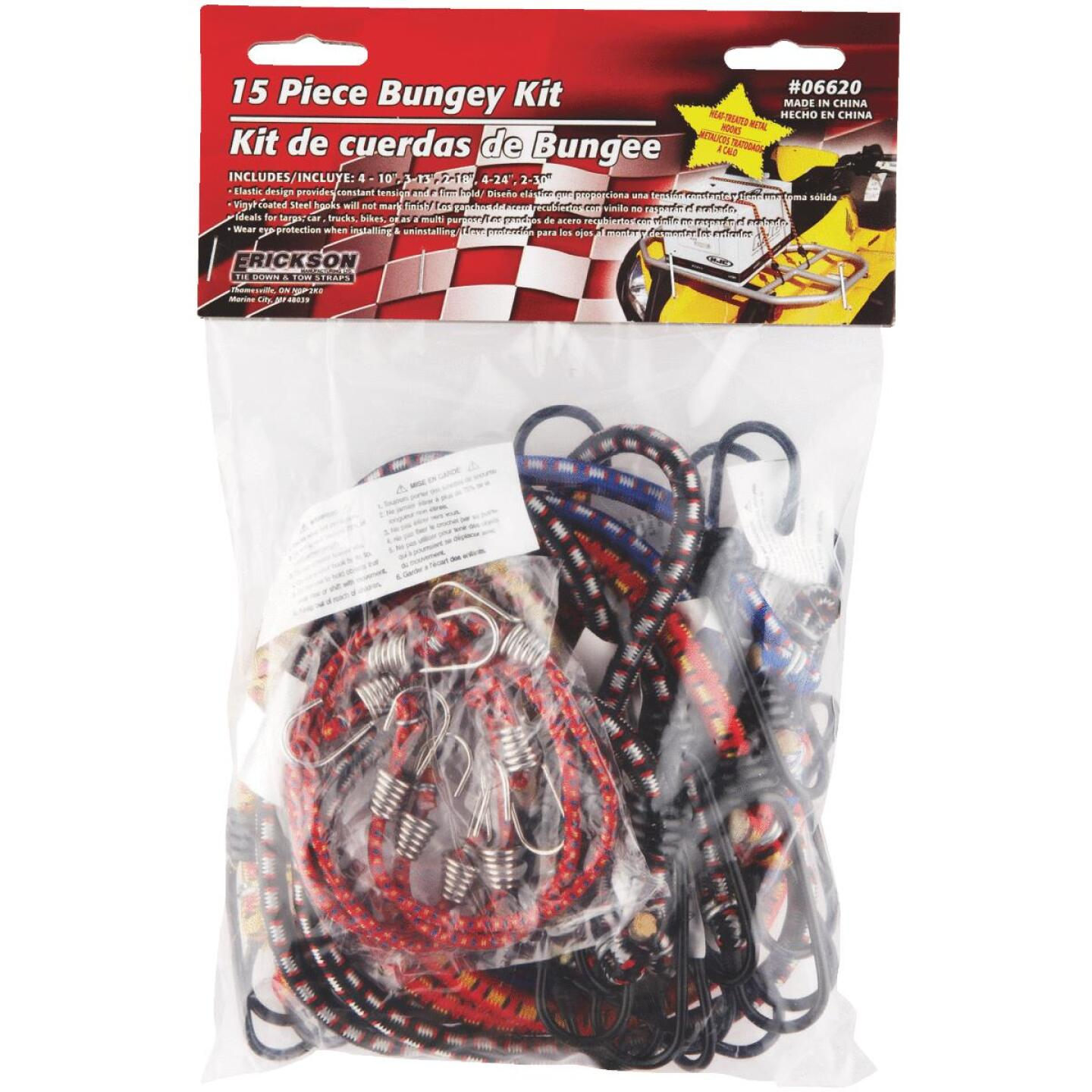 Erickson Vinyl Coated Wire Bungee Cord Set (15-Piece) Image 1