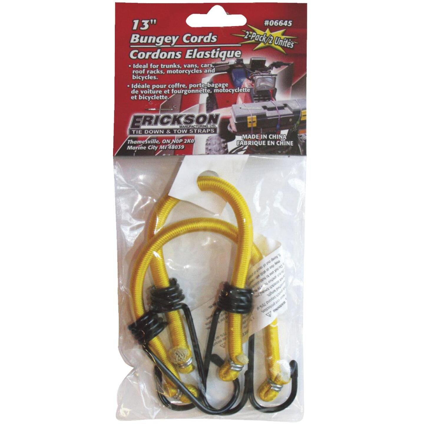 "Erickson 8mm x 13"" Vinyl Coated Steel Bungee Cord Set (2-Pack) Image 1"