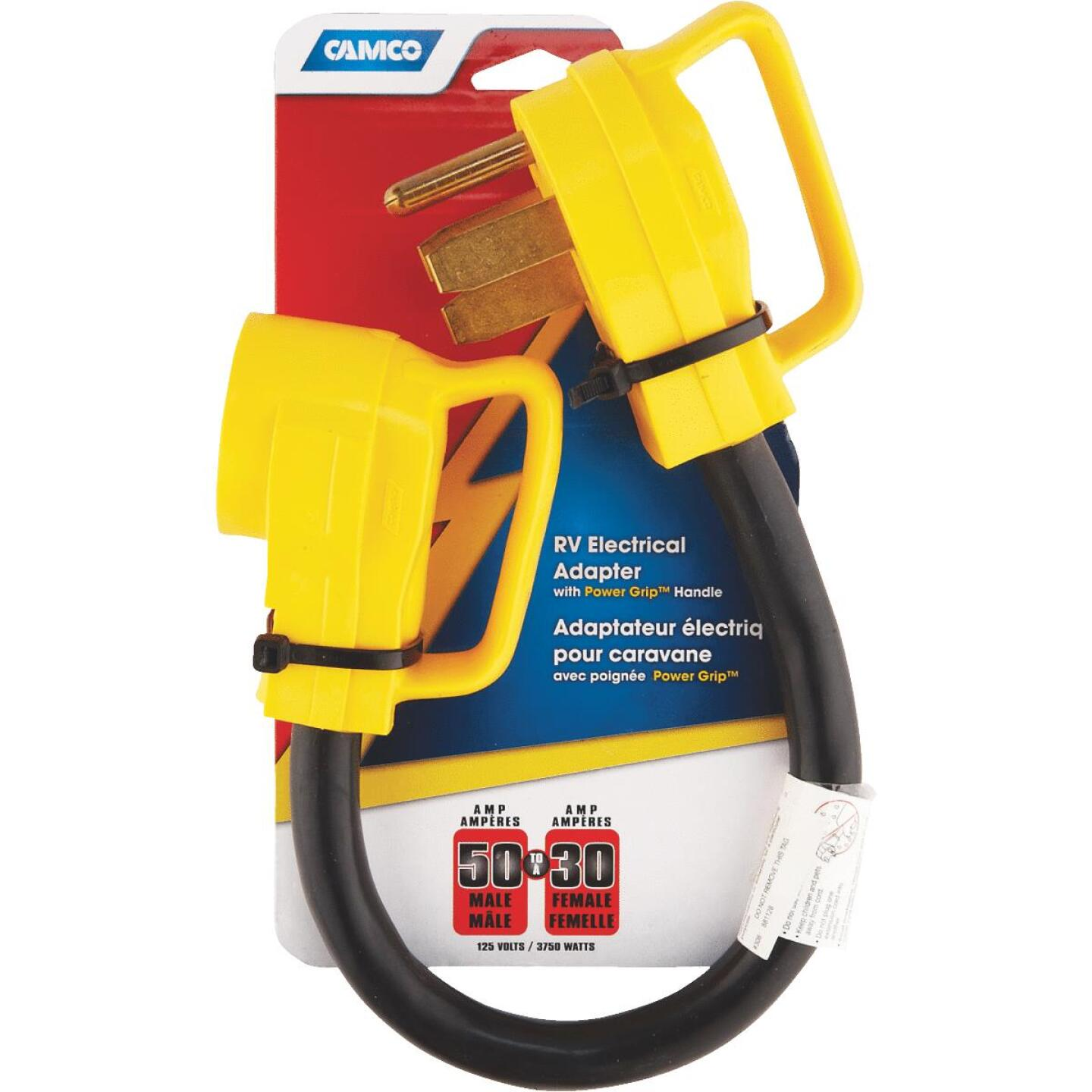 Camco PowerGrip 50A/30A Dogbone RV Power Cord Adapter Image 2