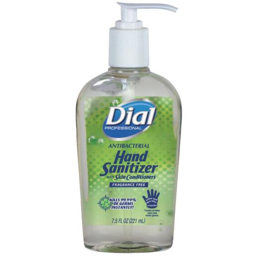 Dial 7.5 Oz. Fragrance Free Hand Sanitizer