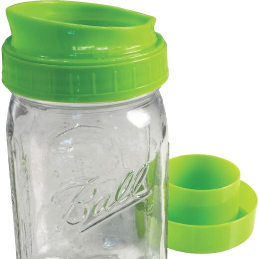 Ball 1 Quart Wide Mouth Mason Canning Jar with Pour & Store Cap