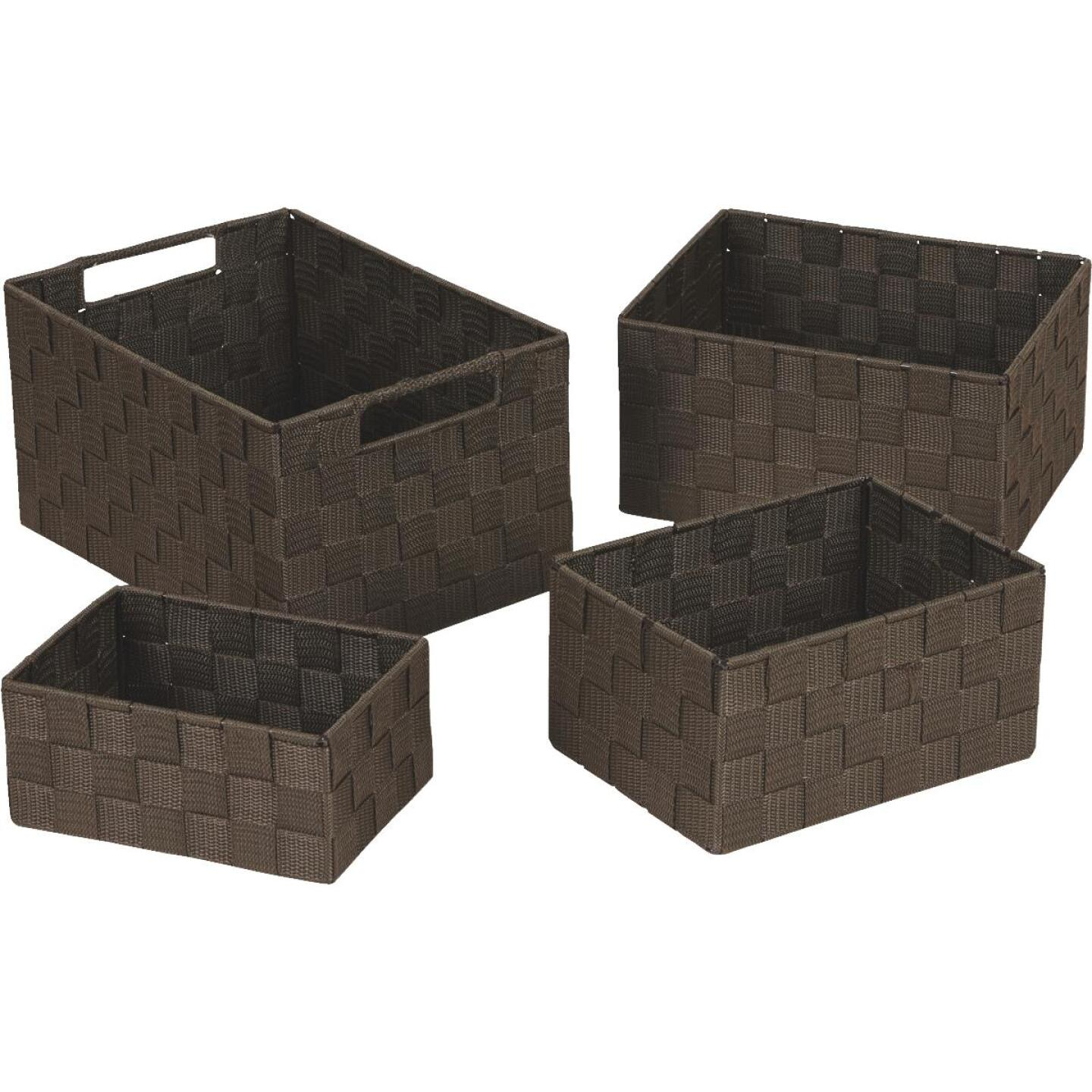 Home Impressions 4-Piece Woven Storage Basket Set, Brown Image 1