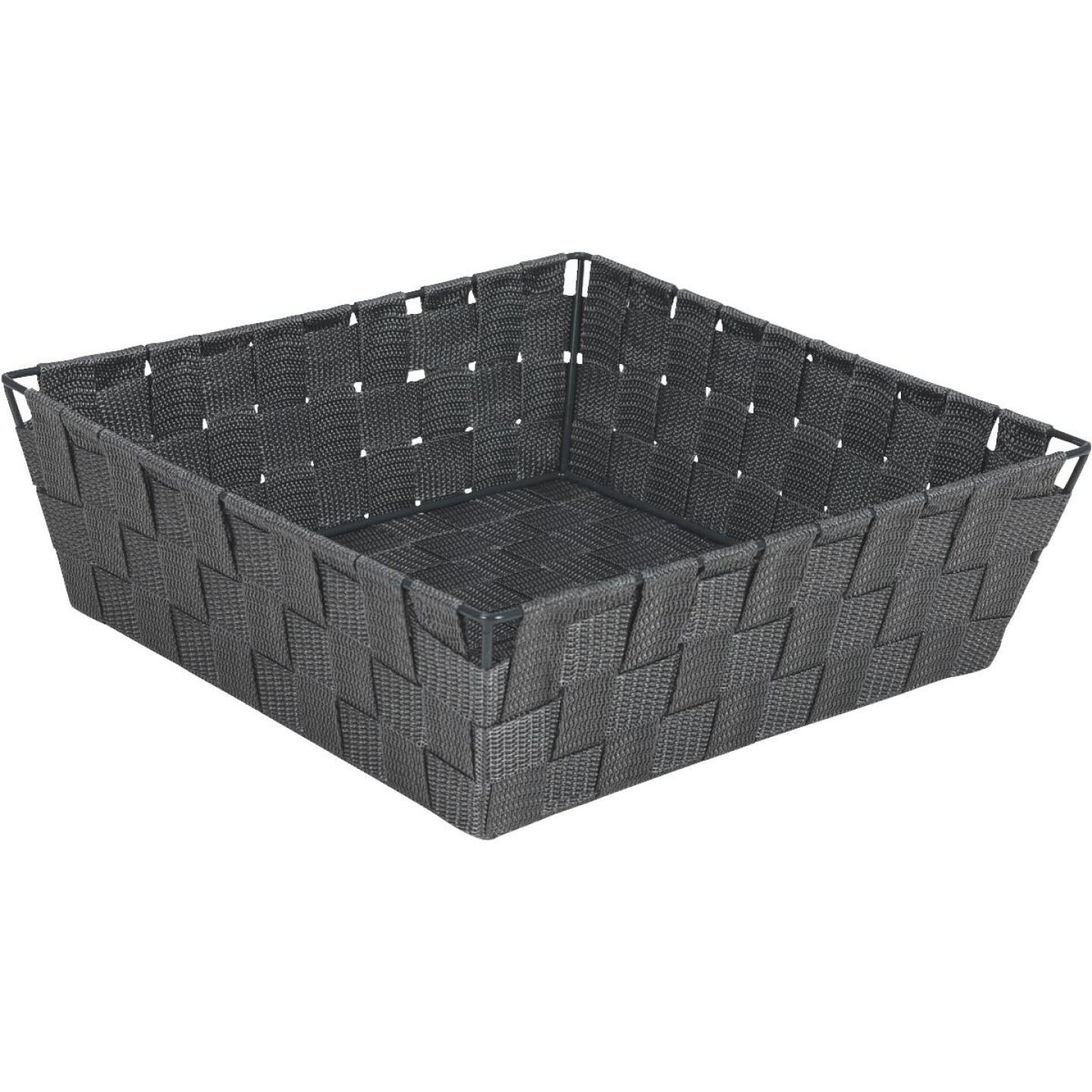 Home Impressions 11.75 In. x 3.75 In. H. Woven Storage Basket, Gray Image 1